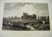 1830 Antique Print ~ Caldicot Castle, Caldicot Level, Monmouthshire - Gastineau