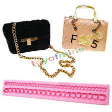 Long Chain Silicone Fondant Mould Purse Bag Cake Mold  Decorating Tool