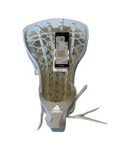New Adidas Fierce Women's Lacrosse Head Size 10 White CG1578 $95 strung