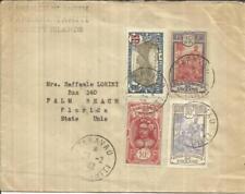 Français Océanie Sc#61 ,#34 ,#28 ,#44 Taravao Ile Tahiti 29/2/32 To USA