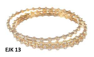 Indian Fashion American Diamond Jewelry AD Fancy Kada Bangles Bracelet Sets 13