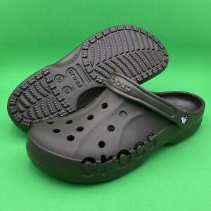 New Crocs Baya Unisex Brown Slip On Clogs 10126-206 Brown Men's Size 10