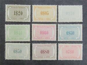 nystamps Portugal Stamp # J45-J53 Mint OG H $34   Y14y708