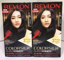 LOT OF 2 REVLON ColorSilk ButterCream BLUE BLACK 21/12BB Hair Coloring