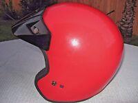 Vintage Fulmer AF-255 Motorcycle Helmet / Red With Black Visor / Adult LG