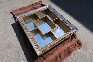 MCM Wall Shelf With Mirror Curio Figurine Display Shadowbox 29 x 25 x 5""