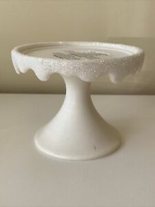 NEW White and Glitter Candle Stand for Bath & Body Works. Holiday theme. NWT.