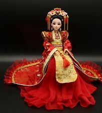NEW RARE OOAK Chinese Collectible Toy Dolls Princess Wedding Dress Free US ship
