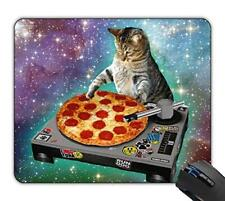 New Top Funny Space Cat And Pizza Rectangle Non Slip Rubber Mouse Pad Mousepad