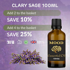 Clary Sage Essential Oil 100ml Natural Aromatherapy Essential Oils Diffuser