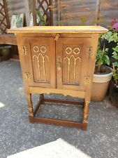 Wood Bros Old Charm English oak pedestal cabinet cupboard table storage