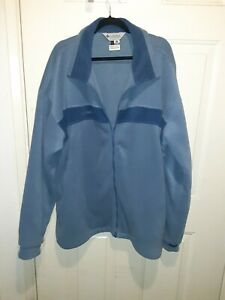 Mens columbia fleece jacket 3XT blue zip up