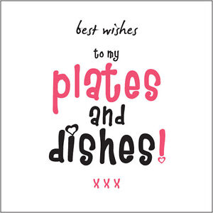 Best Wishes Plates & Dishes MISSUS wife Birthday Card Cockney rhyming slang