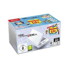 Nintendo 2ds XL Lavender White Games Console Tomodachi Life Charger 4gb Card