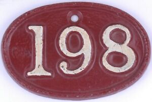 Cast iron house number 198 Great Western Railway GWR Swindon depot store room