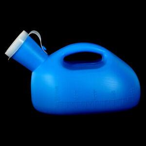 2000 ml Tragbare Urinflasche Urinal WC für Herren Reise Camping mit Deckel YH01