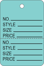 1000pcs Small Perforated 2 Part Coupon Price Style Tags For Clothing Inventory