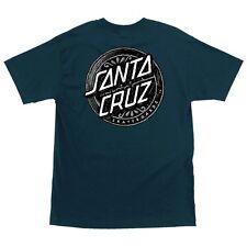 Santa Cruz Lost Dot Skateboard Shirt Harbor Blue Medium