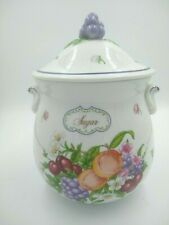 Lenox Orchard Canisters SUGAR Fine Porcelain 1993 Lenox Handpainted
