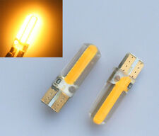 2 X Super Bright T10 194 168 W5W COB 20 SMD SILICA LED Light Bulbs Amber Yellow
