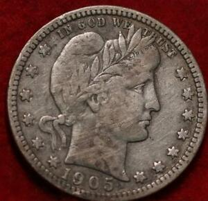 1905-S San Francisco Mint Silver Barber Quarter