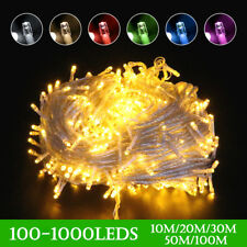 Waterproof Mains Powered Fairy String Lights 10-100M LED Outdoor Xmas Wedding