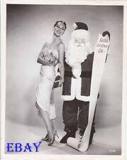 Taina Elg busty leggy Christmas VINTAGE Photo