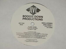 """BOOGIE DOWN PRODUCTIONS 13 and good 12"""" RECORD PROMO"""