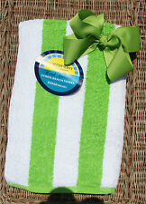 Personalized Embroidered Matching Lime Green Hair Bow and BeachTowel Set