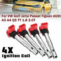 Essgoo 4x Ignition Coils For Audi A4 A5 Q7&VW Golf GTI 2.0T FSI 06E905115E