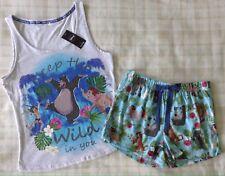 Ladies Disney The Jungle Book Vest Top & Shorts Pyjamas/PJ's/Sleepwear Size 8-10