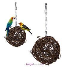 Pet Bird Bites Toy Parrot Chew Ball Toys Cage Swing Hanging Cockatiel Parakeet