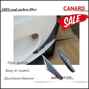 CARBON FIBER 2 PCS  ASM STYLE FRONT BUMPER CANARD FOR S2000