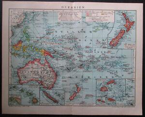 Antique map. OCEANIA. 1910
