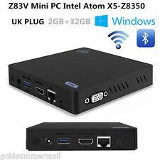 Z83V Mini PC Intel Quad Core 2G+32G Windows 10 TV BOX 5G Wifi BT4.0 3D UK PLUG