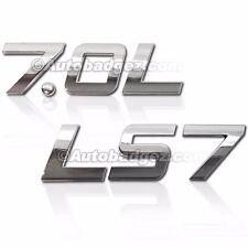 1 - NEW GM CHEVY CHEVROLET Chrome Badge Emblem Rear Side Fender 7.0L LS7 BADGE
