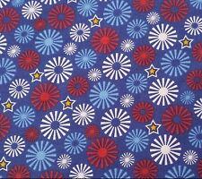 Salute to Summer Liz Kolansky QT BTY Red White Blue Yellow Fireworks