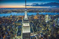 New York Poster Empire State Building bei Nacht mit Gratisposter