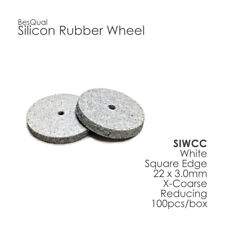Silicone Rubber Polisher Wheel White-Coarse 100-Piece for porcelain and metals