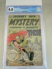 Journey Into Mystery #86 1962 CGC 4.0 1st Appearance Zarrko, The Tomorrow Man