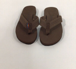 Rainbow Sandal Leather Youth Kids Size 13/1 Brown
