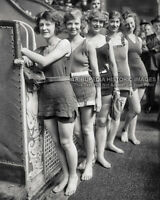1920s Vintage 8x10 Photo Broadway Whirl Girls Times Square Theater NYC Flappers