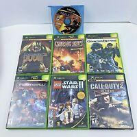OG Xbox Game Lot Doom COD Star Wars Lego MechAssault Halo Counter Strike CIB