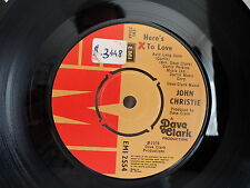JOHN CHRISTIE Old enough to know better / here's to love EMI 2554