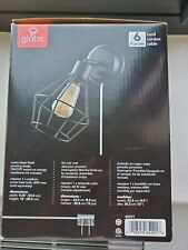 Globe Verdun Wall Sconce Matte Black Plug-In Or Hardwire 6' Clear Cord 65291 New