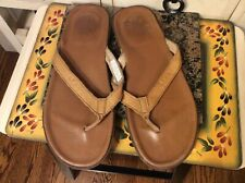 UGG Australia S/N 1834 Men's Thong Flip Flops Sandals Size 12 Chestnut Leather
