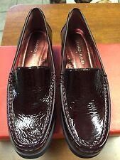 DONALD J PLINER Women's Merlot Crinkle Patent Pearl Loafer Size 6 New in box