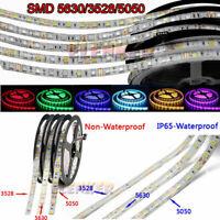 3528 5050 5630 5m/16ft white RGB White SMD LED Roll Strip Light 12V Waterproof