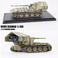 WWII GERMAN  E-100 1/72  Finished  Model tank MODEL COLLECT