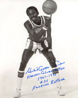 HUBERT GEESE AUSBIE SIGNED 8x10 PHOTO HUGE INSCRIPTION GLOBETROTTERS BECKETT BAS